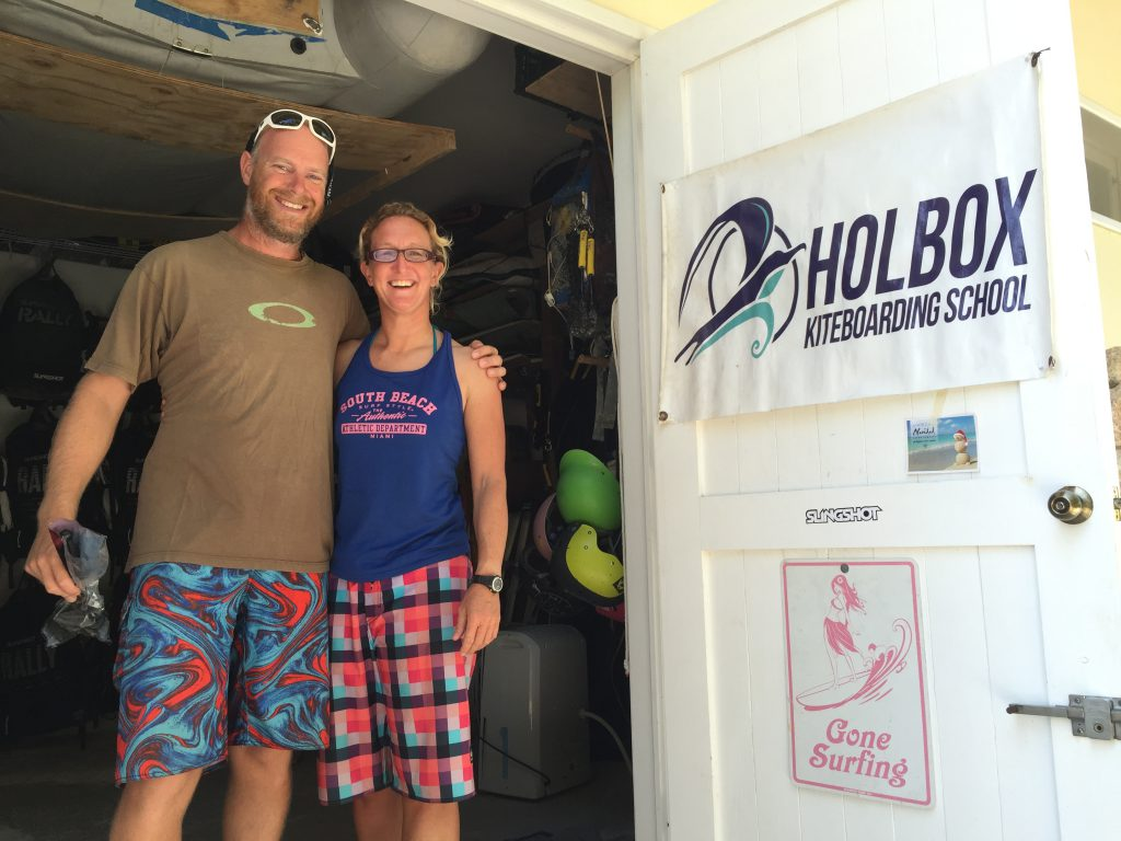 friendly instructors at Holbox Kiteboarding school